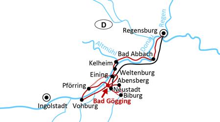 Sternradeln an der deutschen Donau
